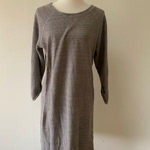 Caslon light grey textured dress
